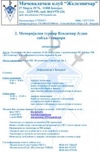 Prijavljujemo sledeće takmičare za prvenstvo Srbije za kadete